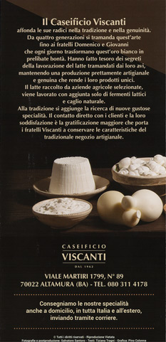 Brochure Caseificio Viscanti