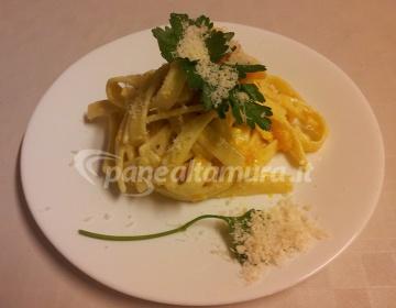 Ricetta Tagliatelle con zucca e pancetta